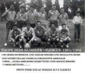EQUIPE FOOTBALL DERB MESSOUFA TLEMCEN.