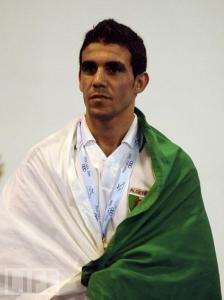 الملاكم الجزائري محمد أمين وضاحي (56 كلغ) تأهله للألعاب الأولمبية 2012 بلندن