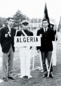 Mohamed Lazhari (à droite) - Premier Algérien aux JO