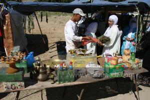 Herboriste à Waada Rjal Meghila, ou Waadat Al Kraiche, fantasia, la3b, Goum ...