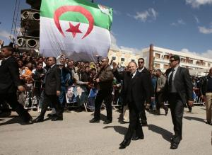 Algeria's President and candidate in the forthcoming presidential election Abdelaziz