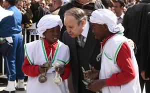 Algeria's president and candidate in the upcoming presidential elections Abdelaziz