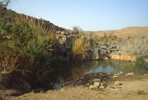 Guelta nelle montagne dell'Hoggar