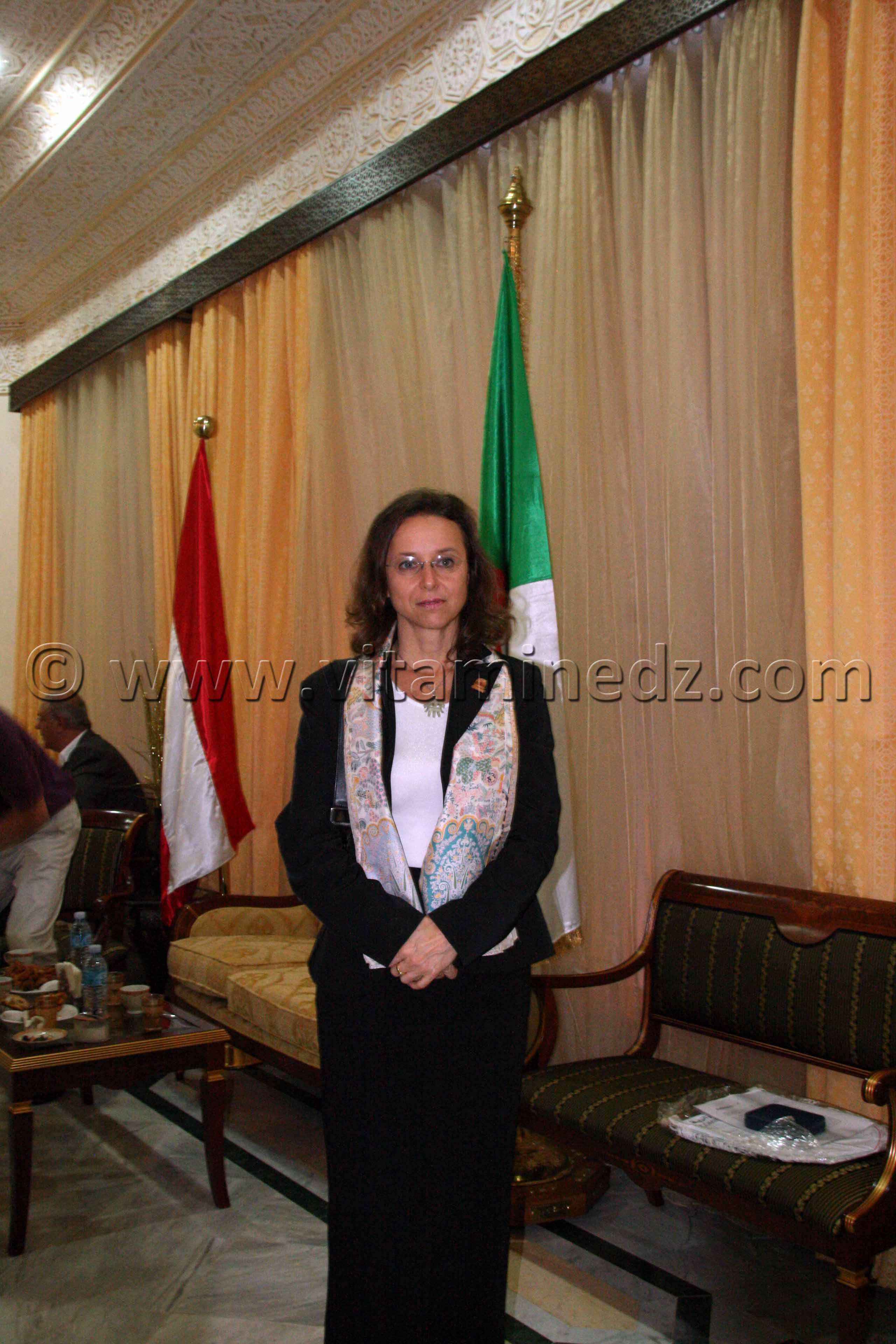 Son excellence Aloisia W�rgetter, ambassadeur d\'autriche � Alger 20.10.2011