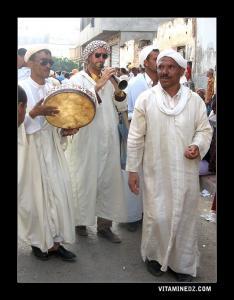 Ghayta et Bendir à la Waada Sidi El Hasni, juillet 2008