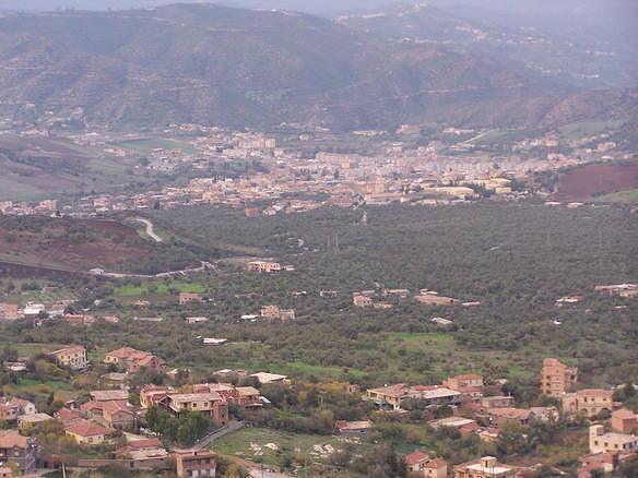 Vue sur la commune de Boghni, Tizi Ouzou