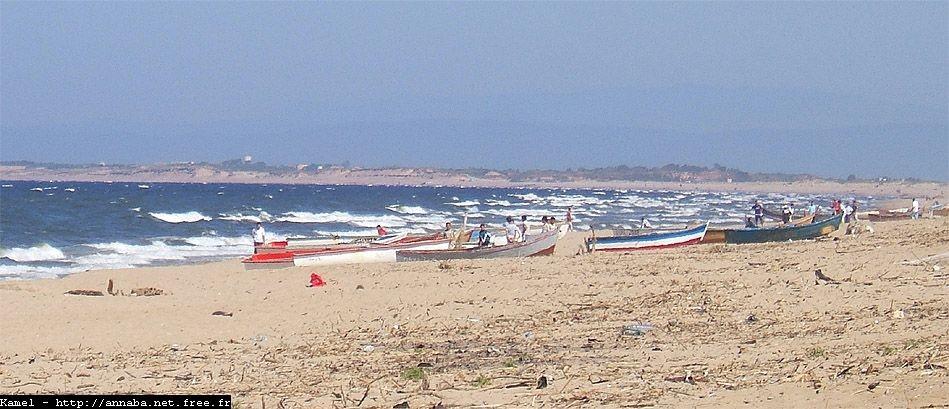 La plage de Sidi Salem, Annaba