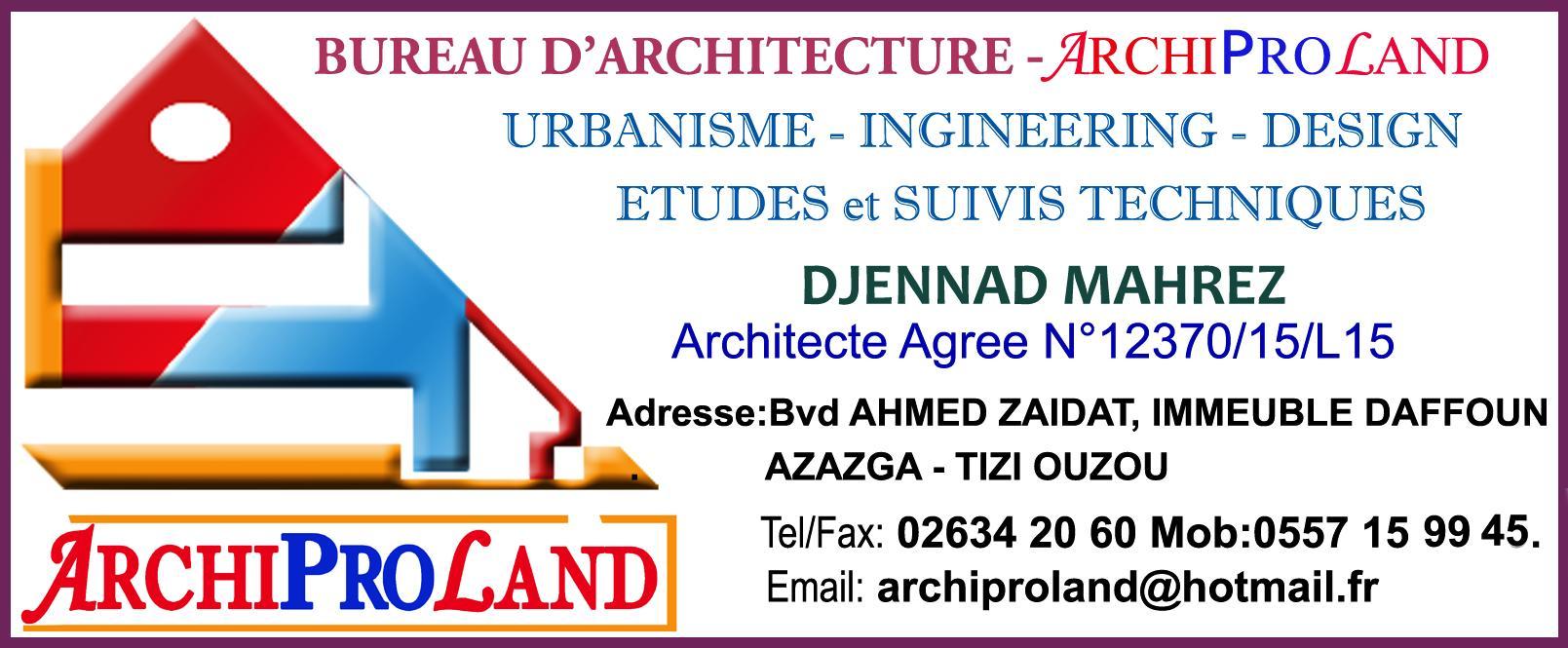 bureau d 39 etudes d 39 architecture archiproland. Black Bedroom Furniture Sets. Home Design Ideas