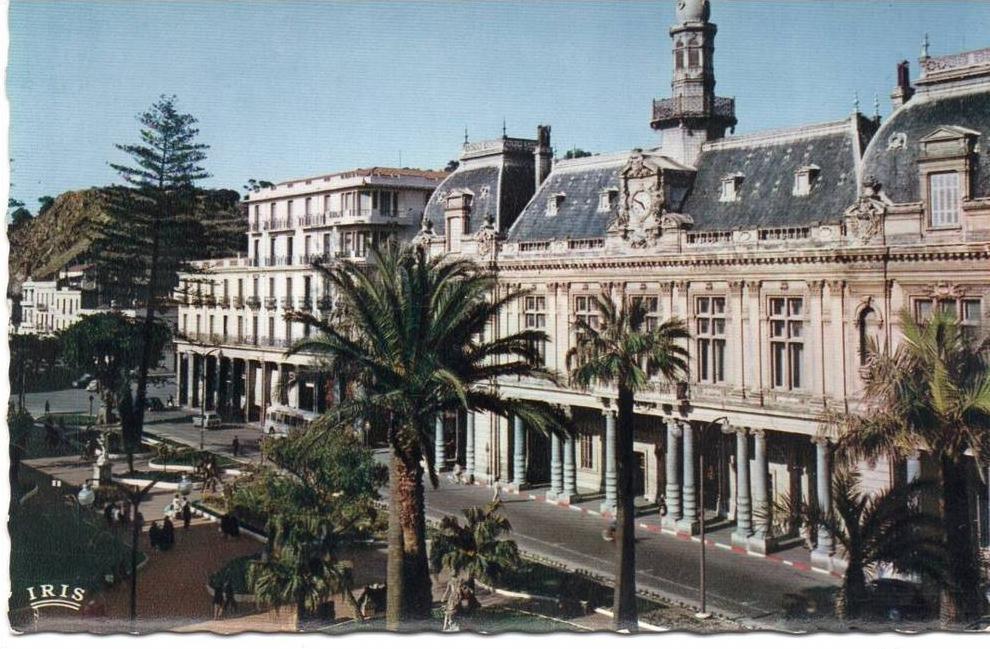 Cpsm algerie bone annaba l 39 hotel de ville coul for Piscine demontable algerie