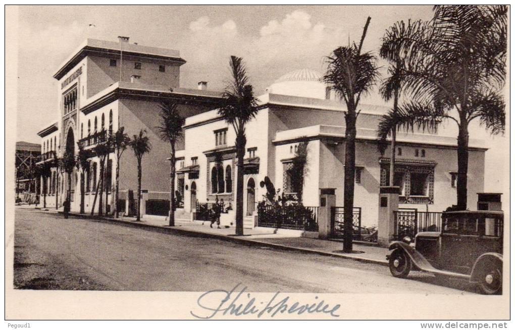 Carte postale ancienne algerie skikda philippeville for Banque exterieur d algerie