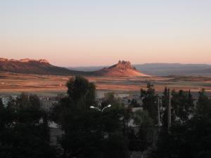 photo de boukhadra au moment de cocher de soleil
