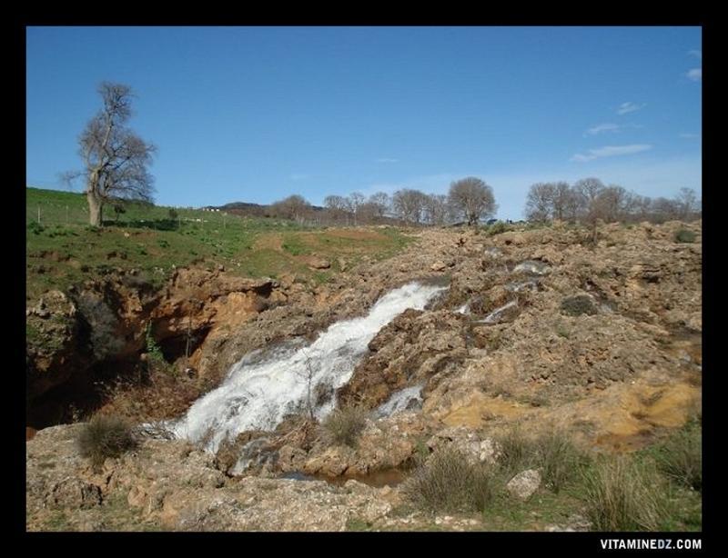 Une L�gende De La Cascade: Vue D'une Partie De La Cascade D'El Ourit, Tlemcen