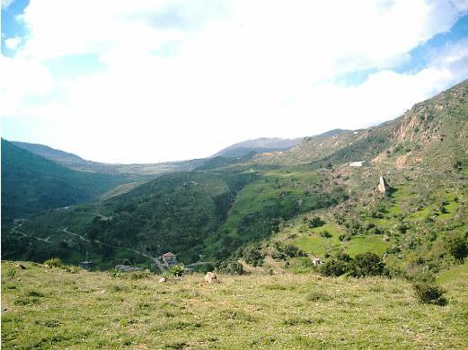 Paysage de la commune de Semaoune, B�jaia