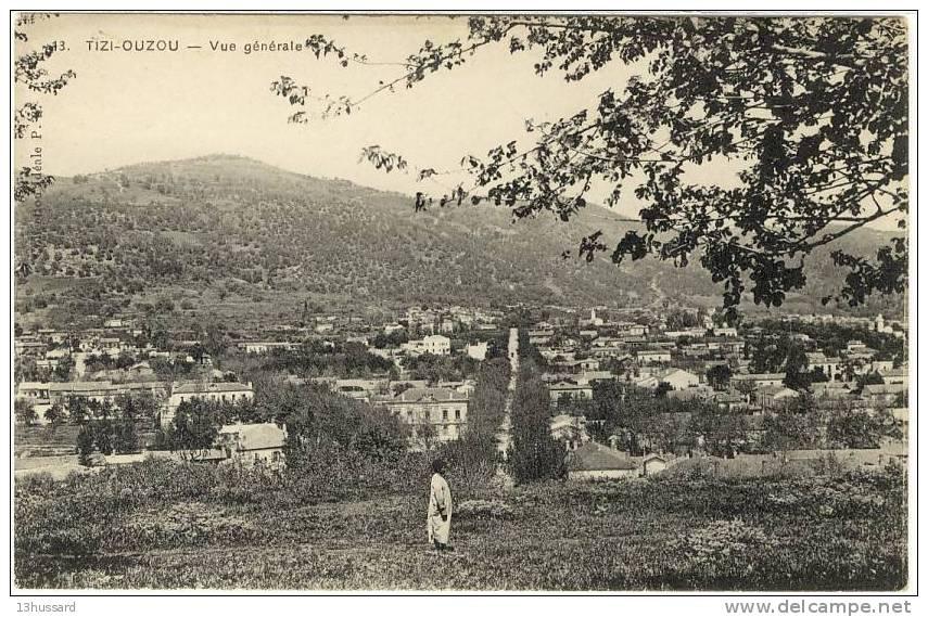 Villes et villages en cartes postales anciennes .. - Page 41 151479-carte-postale-ancienne-kabylie-tizi-ouzou-vue-generale