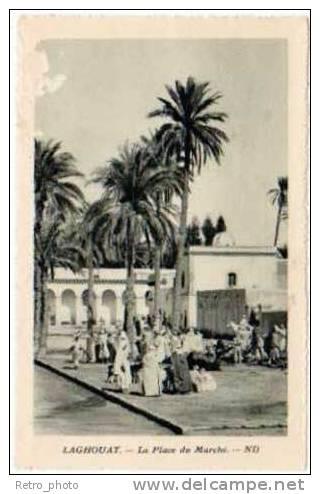 Alg�rie, Laghouat, la place du march�