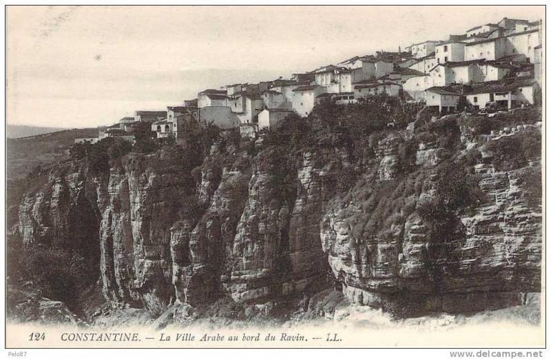 CPA Constantine La ville arabe au bord du ravin BI 638