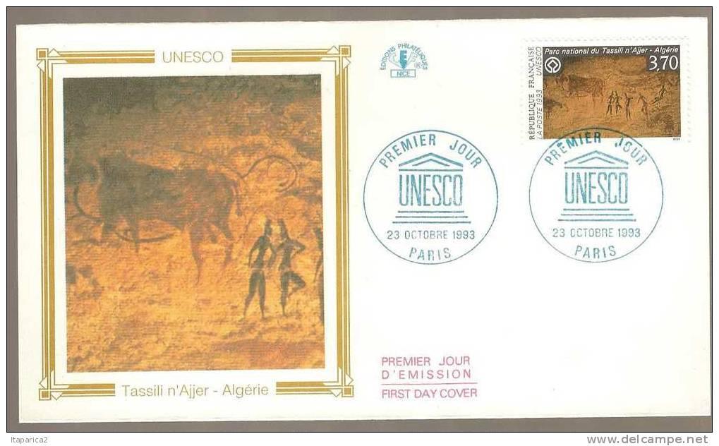 WANTED 168557-enveloppe-premier-jour-n-111-service-unesco-parc-national-du