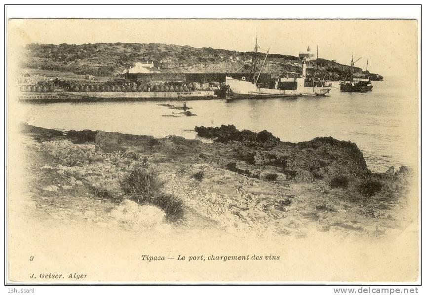 Carte Algerie Tipaza.Carte Postale Ancienne Algerie Tipaza Le Port Chargement Des Vins