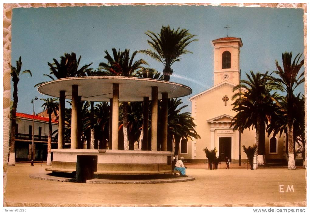Photo du jour.. - Page 5 171238-cpa-algerie-oran-arzew-la-place-et-l-eglise-1960-animee