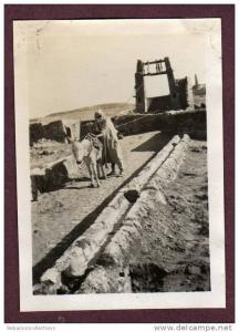 Belle photo ALGERIE 1932 - EL GOLEA - PUITS - HOMME ARABE ET SON ANE