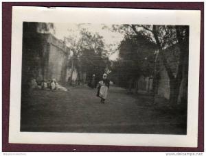 Belle photo ALGERIE 1932 - EL GOLEA - RUE ANIMÉE