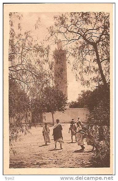 ALGERIE - EL GOLEA Mosqu�e et animation ph R. Prouho