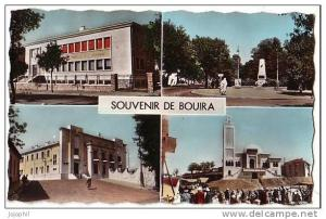 Bouira - Algérie - souvenir de...poste mosquée monument aux morts - écrite 1960