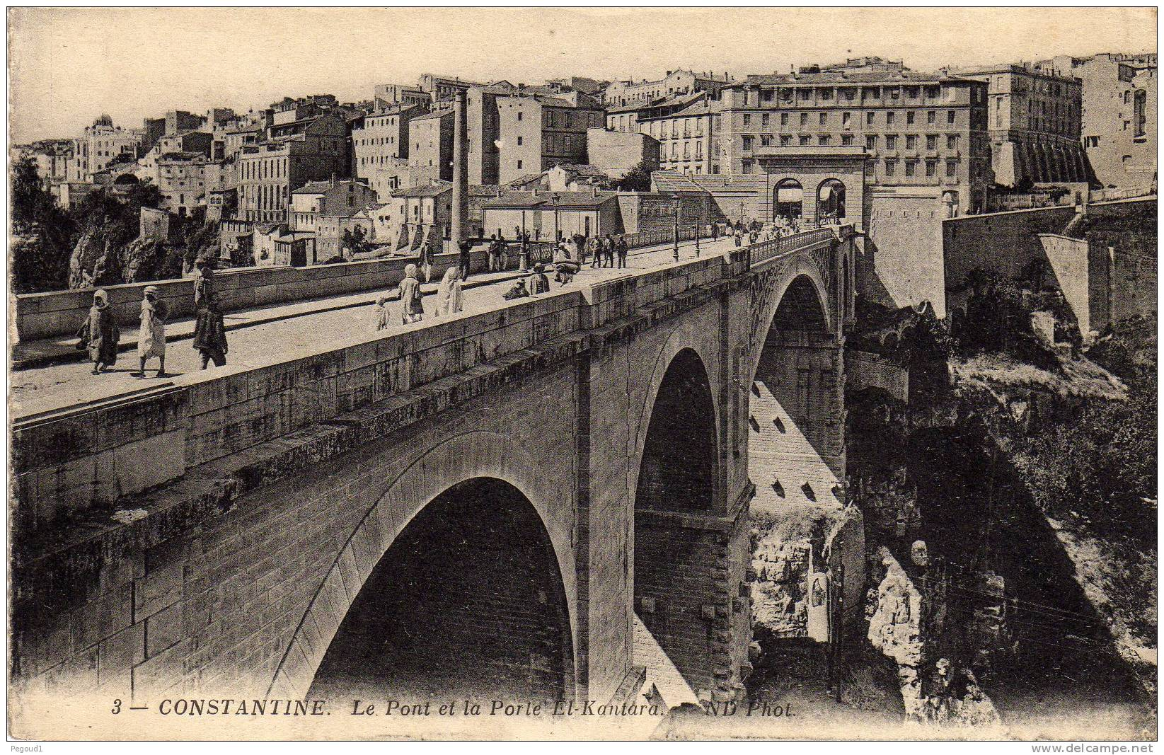 Carte postale ancienne algerie constantine pont et for Porte carte postale sur pied