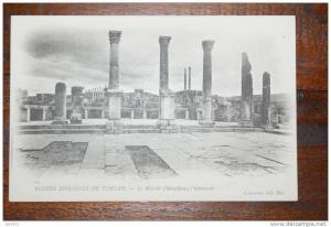 DZ - ALGERIEN - TIMGAD -Ruinenstadt - Le Marche (Macellum) l´hemicycle