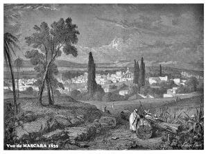Vue de MASCARA en 1835