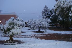 تساقط الثلوج ببلدية موغل بشار