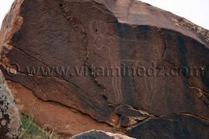 Gravures rupestres d'Oudiane Commune de Boualem, wilaya d'El Bayadh