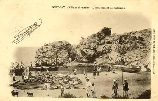 Quand Port Say n'�tait qu'une plage en 1900