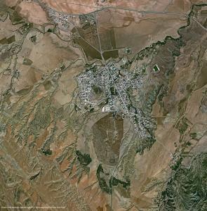 Image satellite Pl�iades - Timgad, Alg�rie