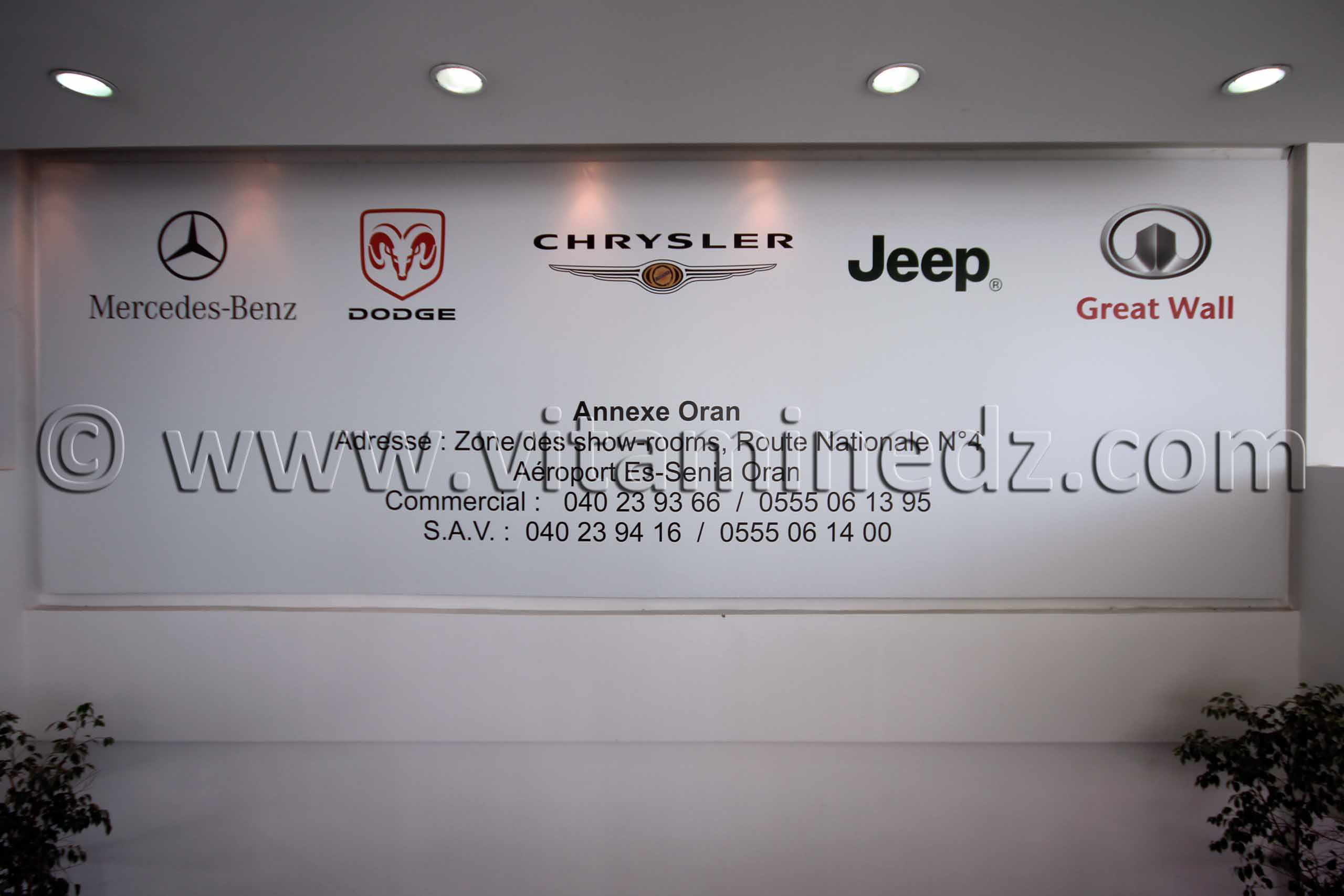 Maison Mercedes Benz, Dodge, Chrysler, Jeep et Great Wall, Auto, Concessionnaire à Oran