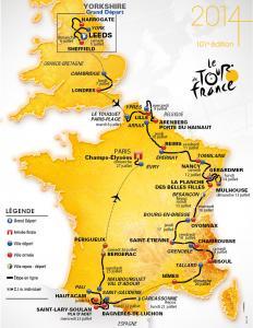 جولة فرنسا 2014 في طبعتها المئة و واحد