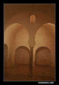 La partie chaude de l'ancien hammam Benslimane