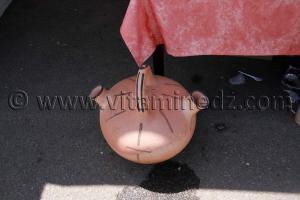 Grosse jarre, Poterie de Bider exposée à Tlemcen