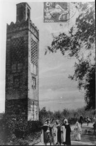 Photo Ancienne de Tlemcen Minaret d\'Agadir