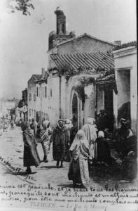 Photo Ancienne de Tlemcen Rue de Mascara, Mosquée de Sidi Senoussi