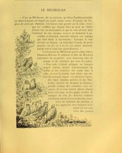 Vieux livre relatant l\'Alg�rie  Texte sur le Mechouar