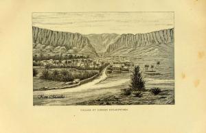 Village et Gorges d\'El KantaraVieux livre relatant l\'Algérie