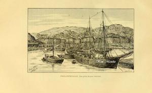 Philippeville, Vue du port intérieur - Vieux livre relatant l\'Algérie