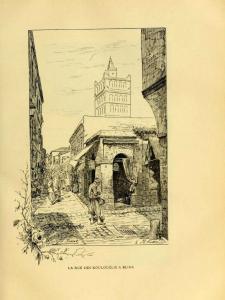 La rue des Koulouglis à Blida - Vieux livre relatant l\'Algérie