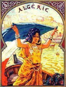 Anciennes Affiches Publicitaires Bateau, Train, Avion Air France vers Algerie, Maroc, Tunisie