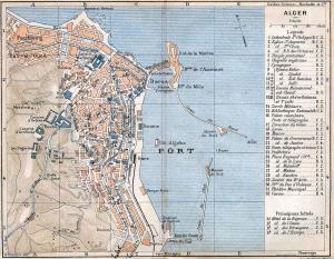 خريطة الجزائر العاصمة 1903