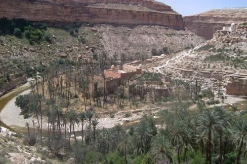 Les gorges de Tilatou dans le sud de Batna