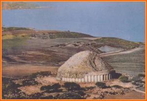 Vue aérienne du tombeau royal de maurétanie