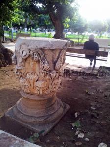 Chapiteaux à feuilles d\'acanthe à la place romaine de Cherchell (Caesarée)