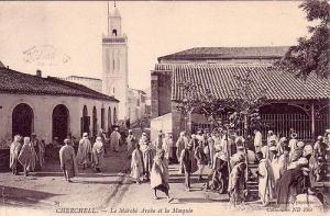Cherchell, Le marché arabe et la mosquée